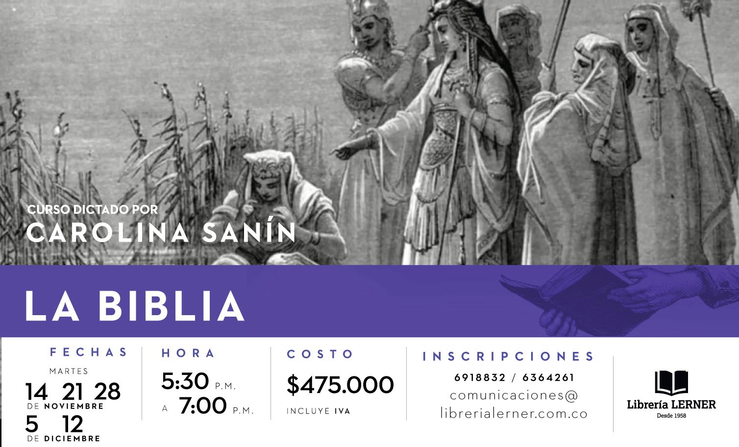 Curso La Biblia Carolina Sanín