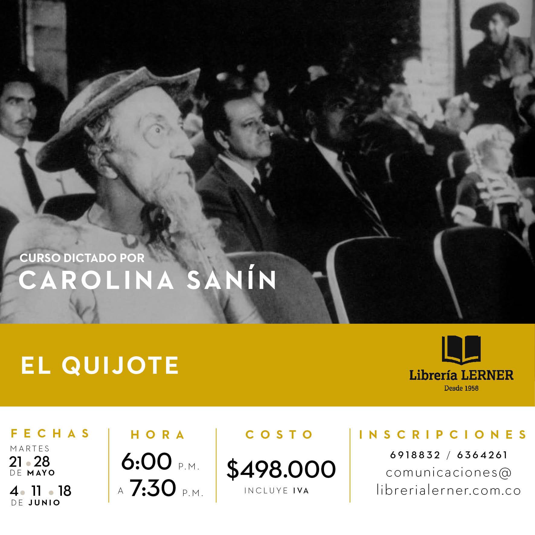 CURSO EL QUIJOTE dictado por Carolina Sanín