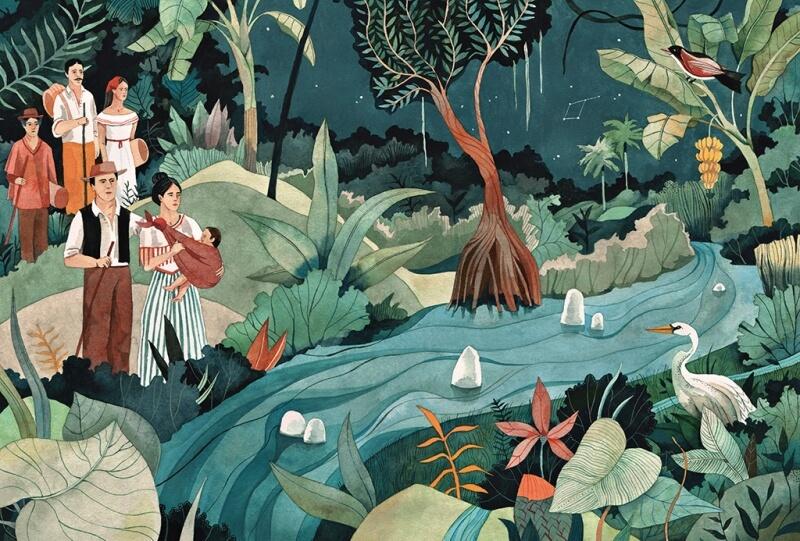 Ilustracion Cien Años de Soledad 1